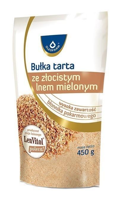 Oleofarm Bułka Tarta Ze Złocistym Lnem Mielonym 450 g