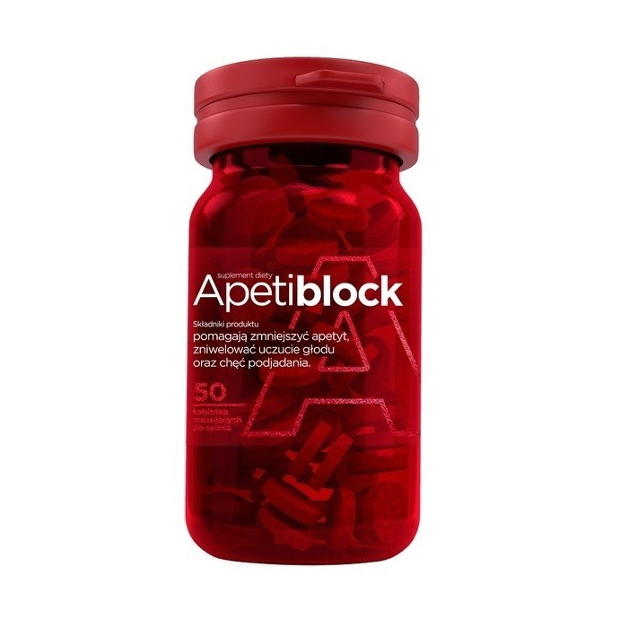 Apetiblock o smaku wiśniowo-malinowym 50 Tabletek