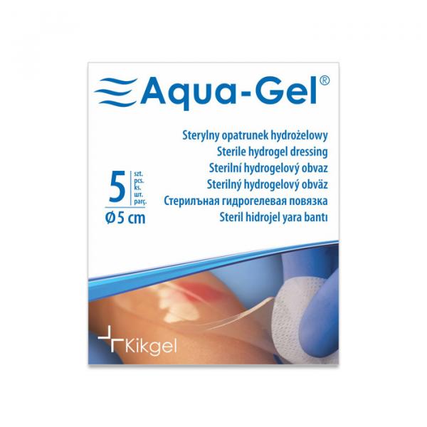 Aqua-Gel Opatrunek Hydrożelowy średnica 5 cm