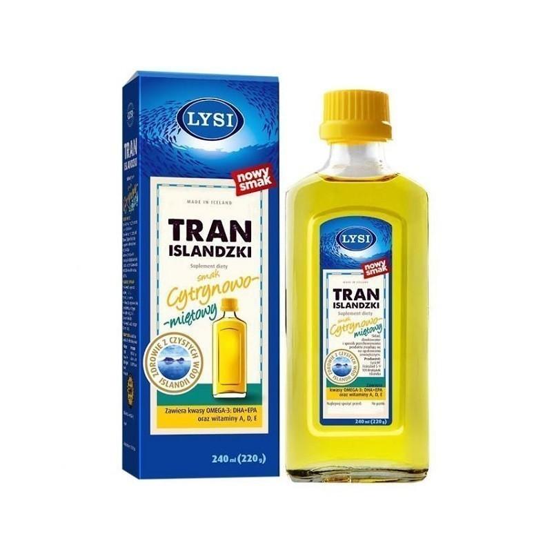 Tran Lysi Cytrynowo-Miętowy 240 ml