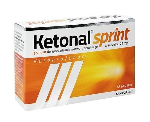 Ketonal Sprint 25 mg 12 Saszetek
