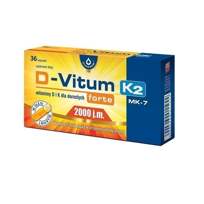 D-Vitum Forte 2000 j.m.+ K2 MK-7