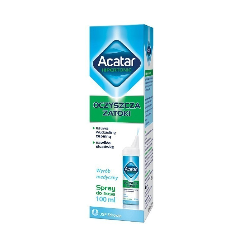 Acatar Hipertonic Hipertoniczny Spray do nosa 100 ml