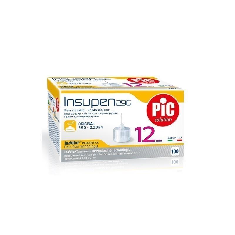 Pic Igły do Penów Insulinowych 0,33 x 12mm (29G) 100 sztuk