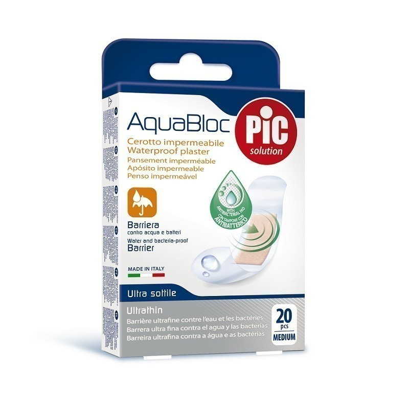 Pic Aquabloc Plastry Antybakteryjne Medium 20szt.