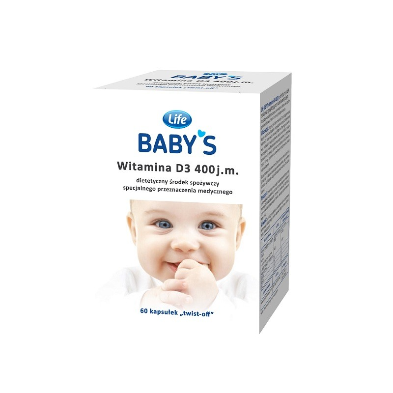 Life Baby's Witamina D3 400 j.m 60 kaps. Twist-Off