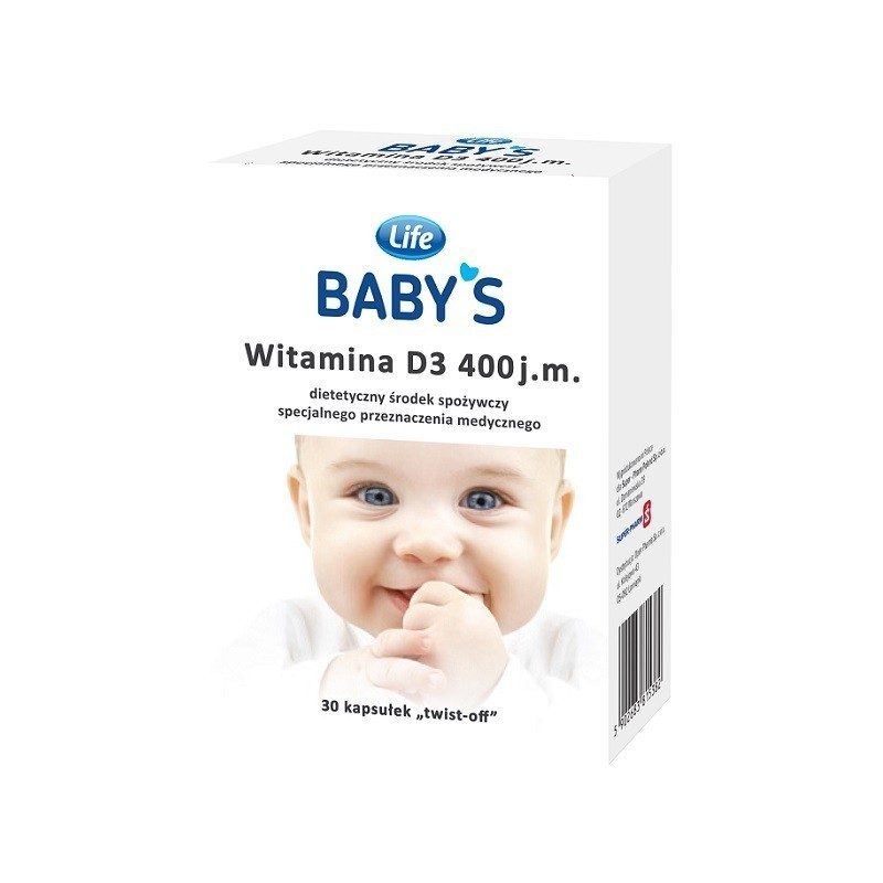Life Baby's Witamina D3 400 j.m 30 kaps. Twist-Off