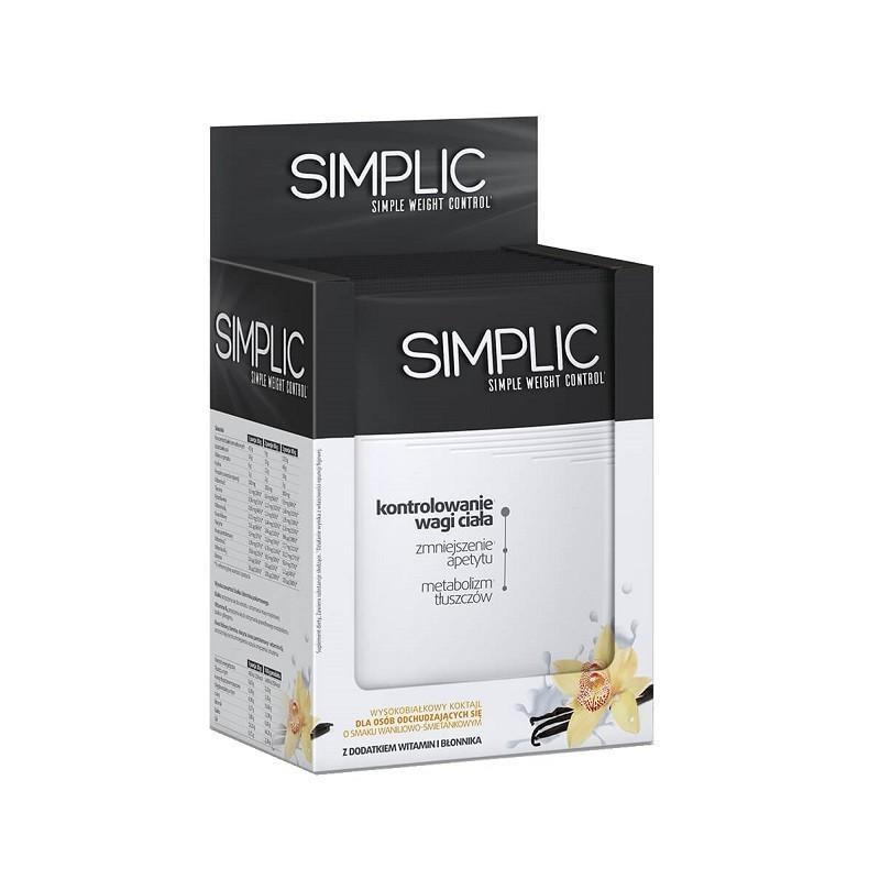 SIMPLIC Koktajl o smaku waniliowo-śmietankowym 10 Saszetek