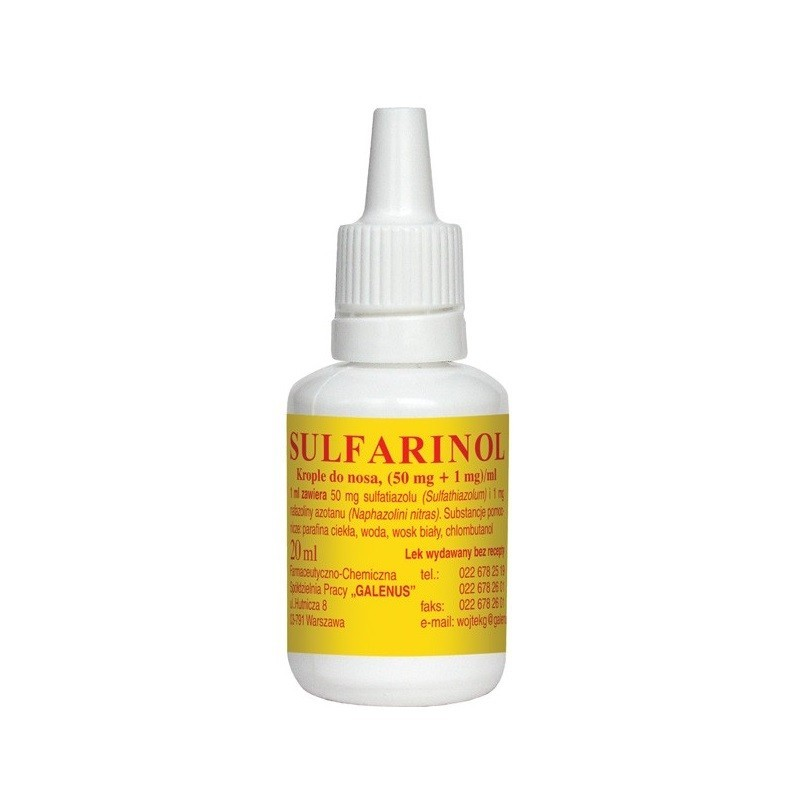 Sulfarinol Krople do nosa 20 ml