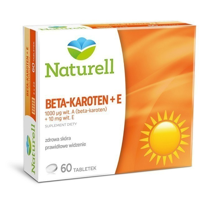 Naturell Beta-Karoten + Wit. E 60 Tabletek