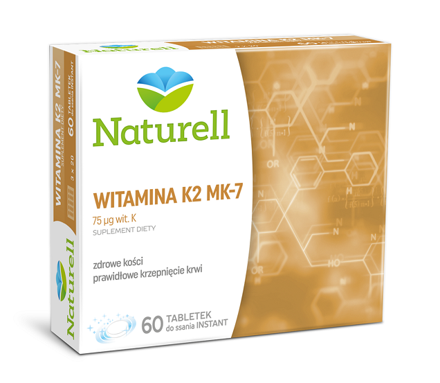 Naturell Witamina K2 MK-7 60 Tabletek Instant