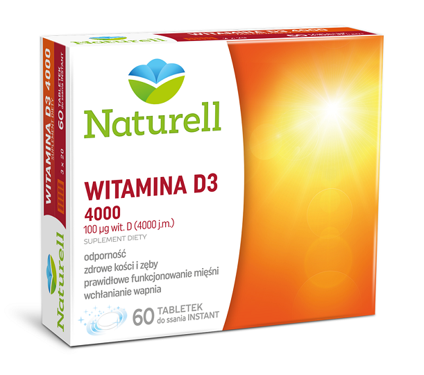 Naturell Witamina D3 4000 60 Tabletek Instatnt