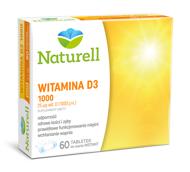 Naturell  Witamina D3 1000 60 Tabletek Instant