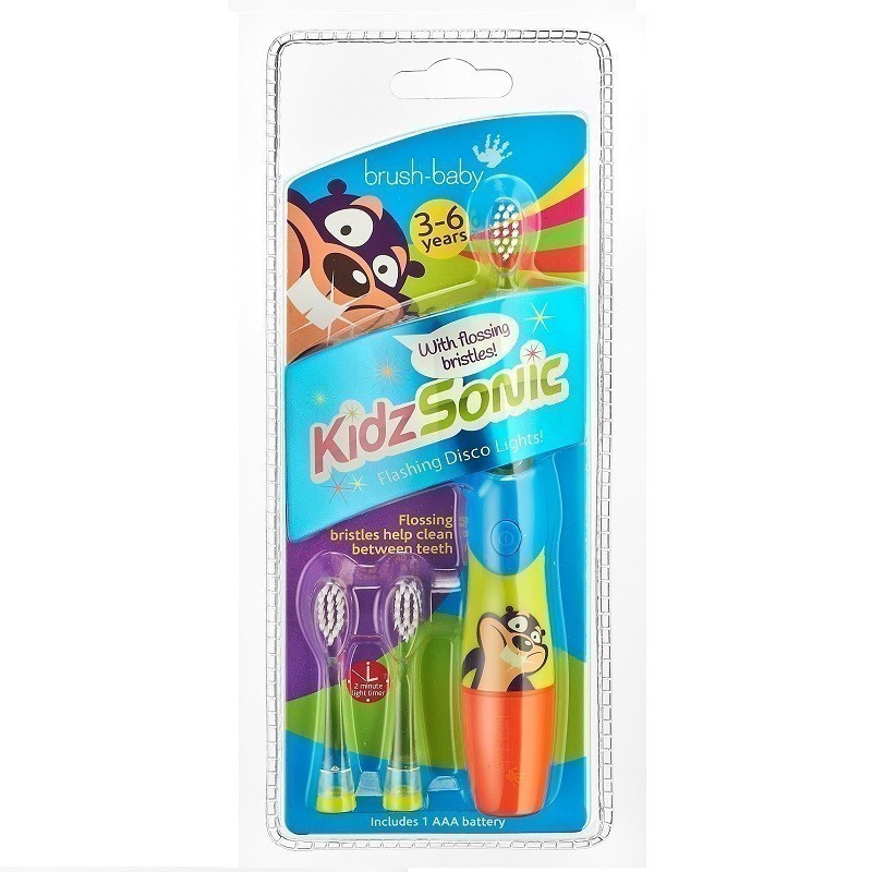 Brush-Baby Kidzsonic Szczoteczka Soniczna 3-6 Lat 1szt.