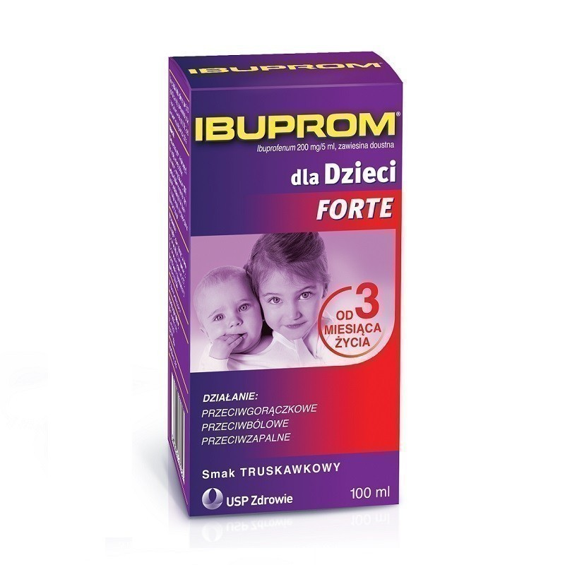 Ibuprom dla Dzieci Forte Syrop 100 ml