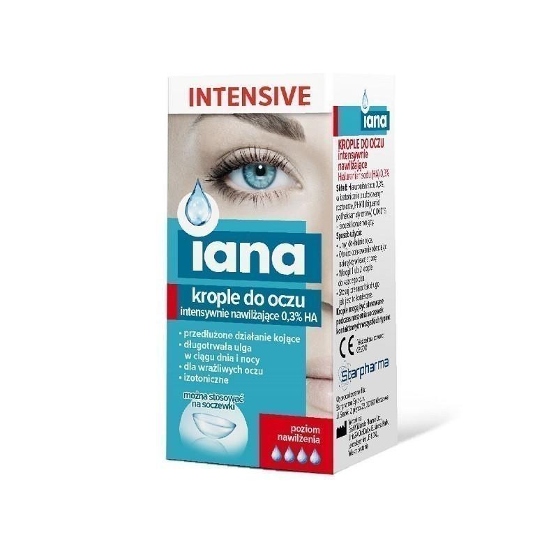 Iana Intensive Krople do Oczu Intensywnie Nawilżające 0,3% 10 ml