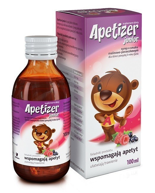 Apetizer Junior Smak Malinowo-Porzeczkowy Syrop 100 ml