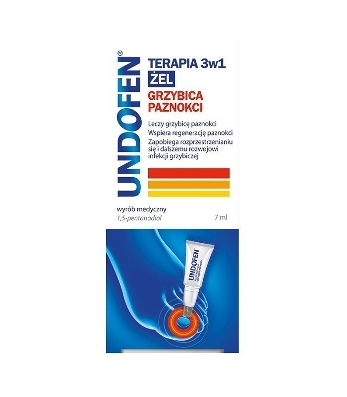 Undofen Terapia 3w1 Żel na grzybicę paznokci 7 ml