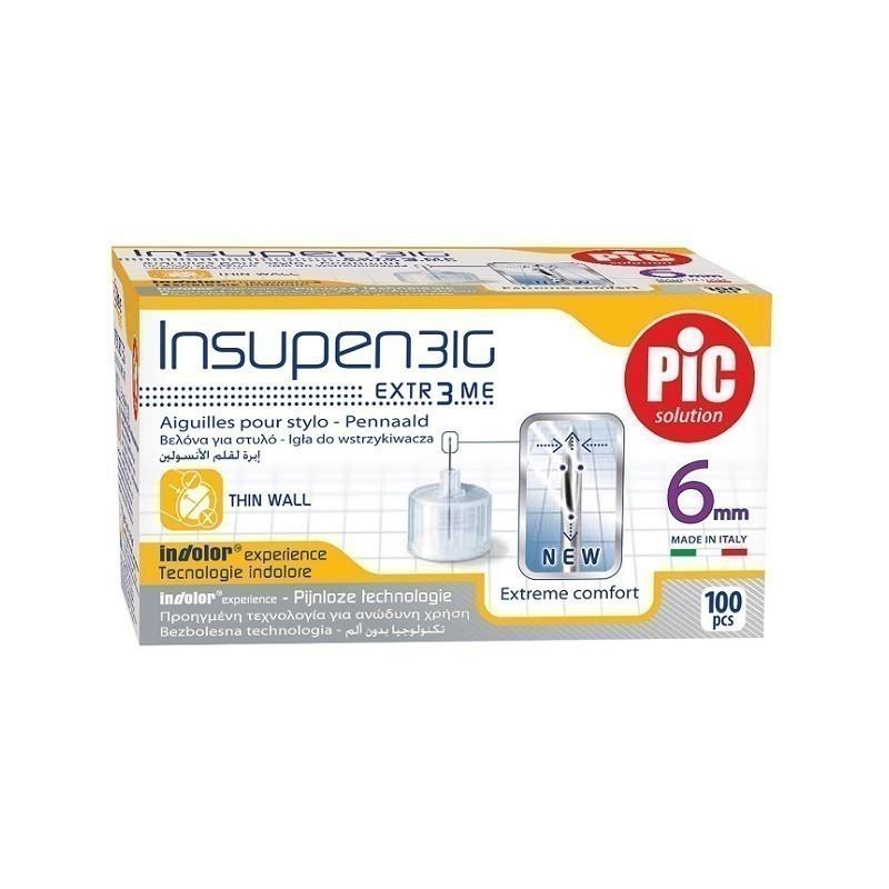 Pic Igły do Penów Insulinowych 0,25 x 6mm (31G) 100 sztuk