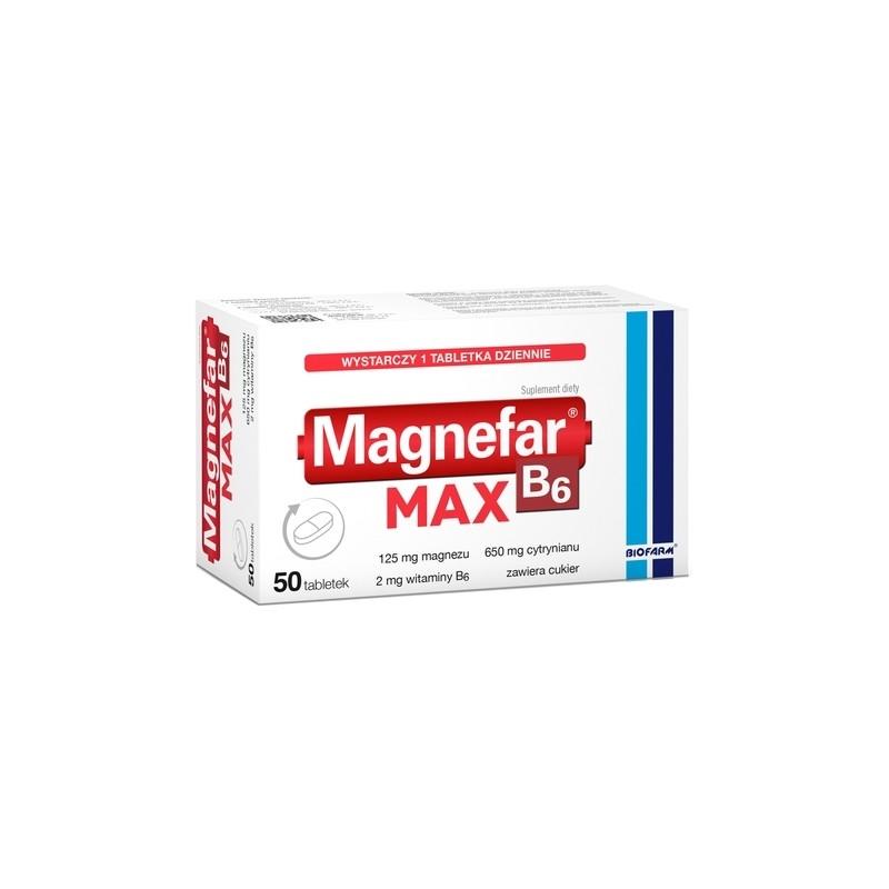 Magnefar B6 Max 50 Tabletek