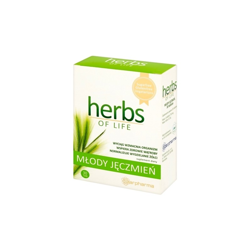 Herbs of Life Młody Jęczmień 30 Tabletek