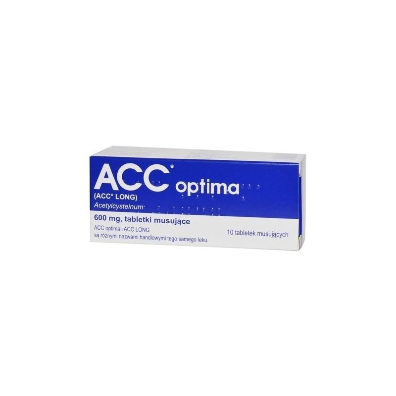 ACC Optima 600 mg 10Tabletek Musujących DELFARMA