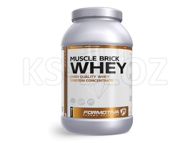 FORMOTIVA MUSCLE BRICK WHEY banana flavoured
