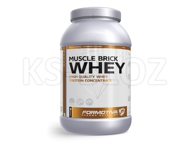 FORMOTIVA MUSCLE BRICK WHEY strawberry flavoured
