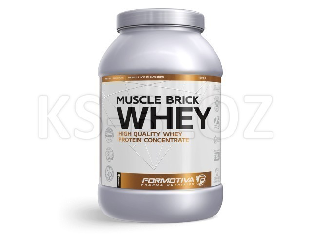 FORMOTIVA MUSCLE BRICK WHEY vanilla ice flavoured