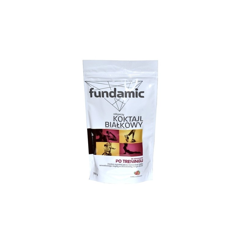 FUNDAMIC Odżywczy Koktail białkowy o smaku truskawkowym