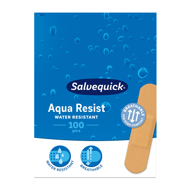 Plastry Salvequick Aqua Resist Medium 100 szt.