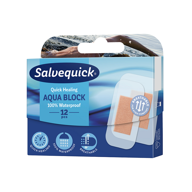 Salvequick Aqua Block Plastry Wodoszczelne 12 szt.