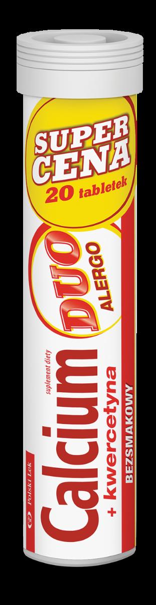 Calcium Duo Alergo 20 Tabletek Musujących