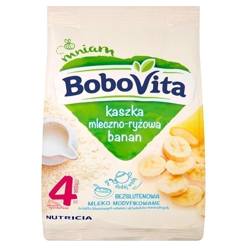 Bobovita Kaszka Mleczno-Ryżowa Bananowa