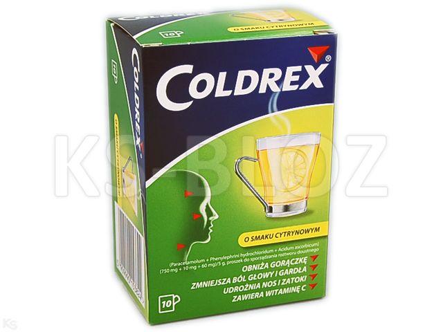 Coldrex o smaku cytrynowym
