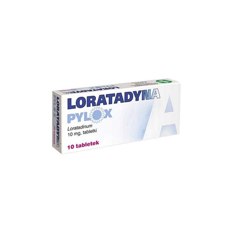 Loratadyna Pylox 10 Tabletek