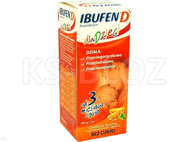 Ibufen dla dzieci o smaku truskawkowym