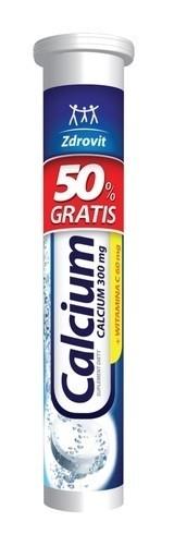 Zdrovit Calcium z Witaminą C 20 Tabletek Musujących