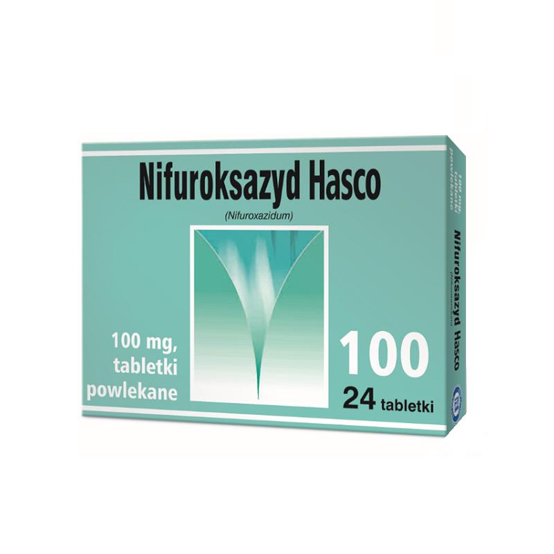 Nifuroksazyd Hasco 100 mg 24 Tabletki