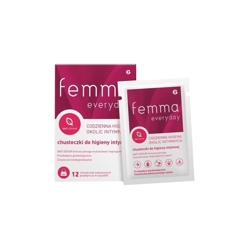 Femma everyday chusteczki do higieny intymnej 12szt.