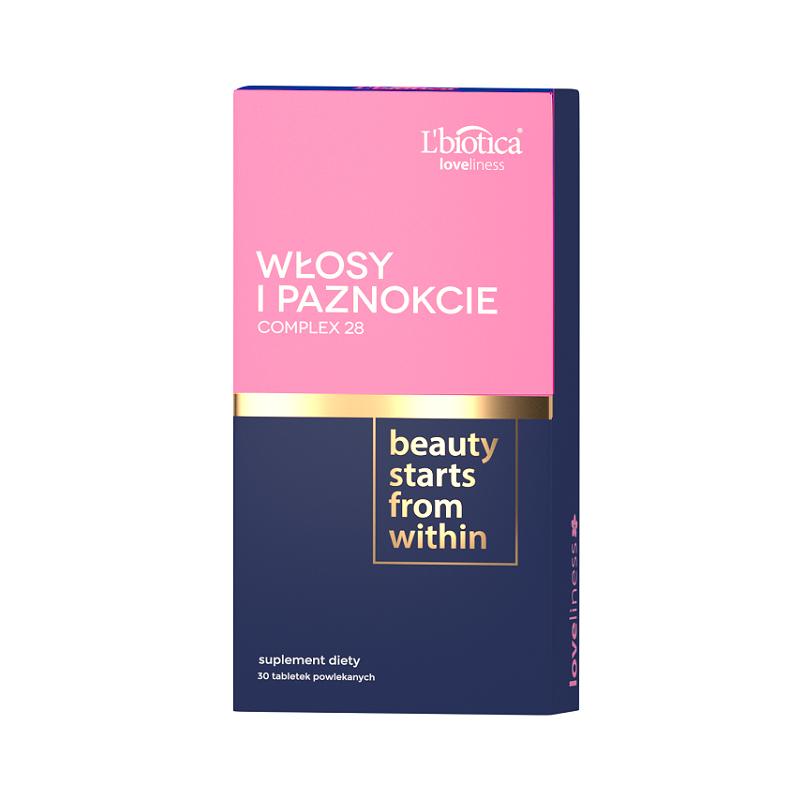 L'Biotica Włosy i Paznokcie Complex28 30 Tabletek