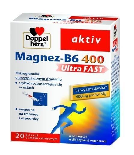 Doppelherz Aktiv Magnez-B6 UltraFAST 20 Saszetek