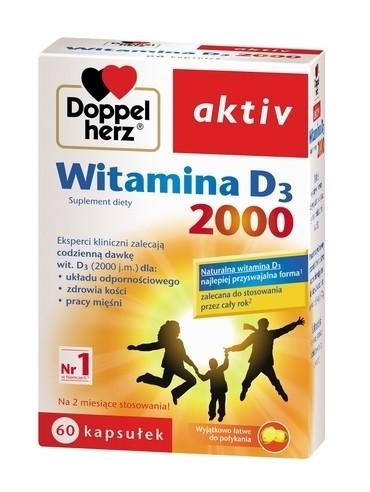 Doppelherz Aktiv Witamina D3 2000 60 Kapsułek