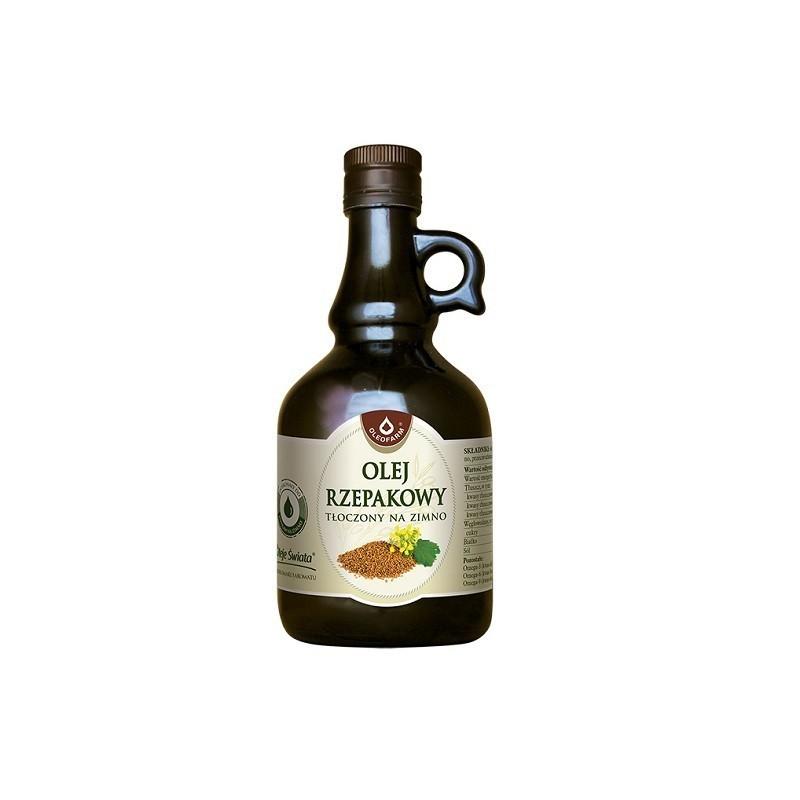 Olej Rzepakowy Tłoczony na Zimno 500 ml
