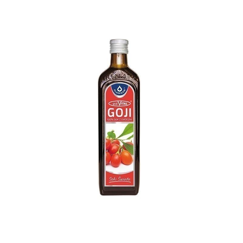 Gojivital 100% Sok z Owoców Goji 490 ml