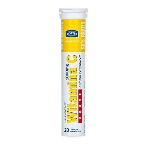 Witamina C Forte 1000 mg 20 Tabletek Musujących