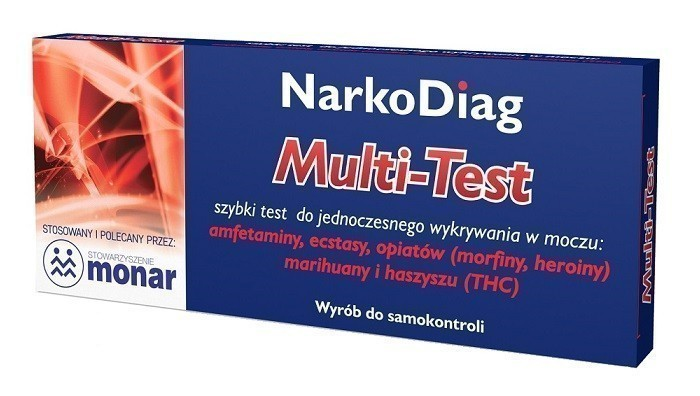 Narkodiag Multi-Test Do Wykrywania Narkotyków W Moczu 1 op.