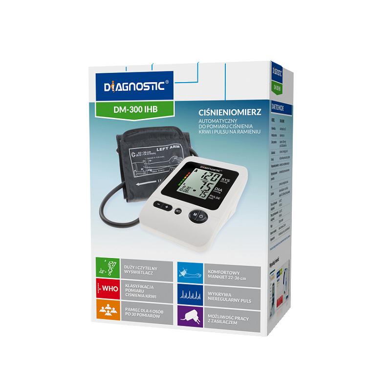 Ciśnieniomierz Diagnostic DM-300 IHB automatyczny naramienny