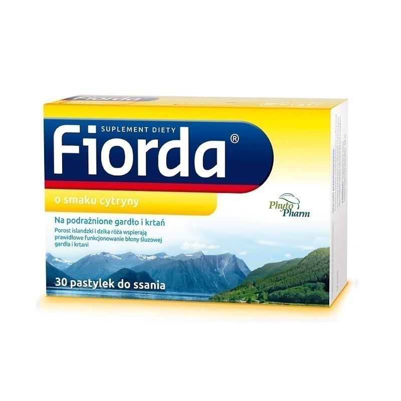 Fiorda Pastylki do ssania o smaku cytrynowym 30 szt.