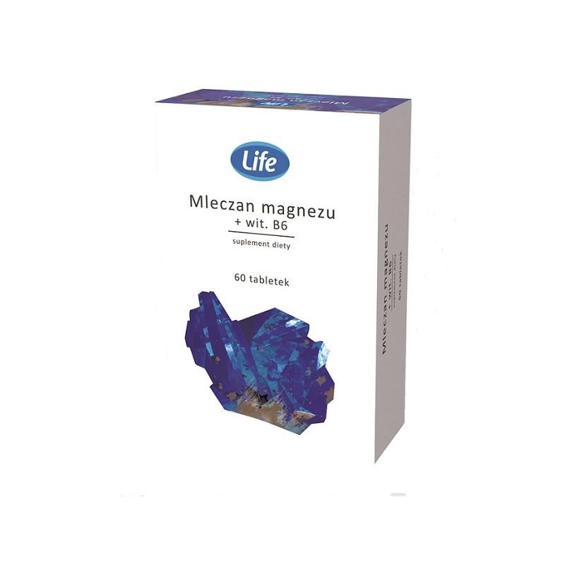 Life Mleczan Magnezu + Witamina B6 60 Tabletek